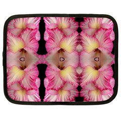 Pink Gladiolus Flowers Netbook Sleeve (large) by Artist4God