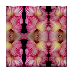 Pink Gladiolus Flowers Face Towel by Artist4God