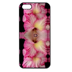 Pink Gladiolus Flowers Apple Iphone 5 Seamless Case (black) by Artist4God