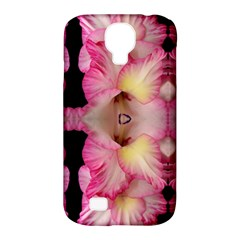 Pink Gladiolus Flowers Samsung Galaxy S4 Classic Hardshell Case (pc+silicone) by Artist4God