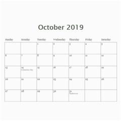 2019 Calendar Yard Work By Lisa Minor   Wall Calendar 11  X 8 5  (12 Months)   Jbx1q6jft8jv   Www Artscow Com Oct 2019