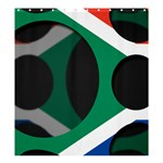 South Africa Shower Curtain 66  x 72  (Large)