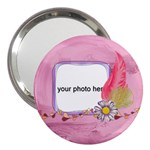 Watercolor handbag mirror - 3  Handbag Mirror