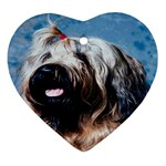 Briard Ornament (Heart)