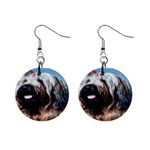 Briard 1  Button Earrings