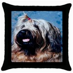 Briard Throw Pillow Case (Black)