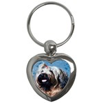 Briard Key Chain (Heart)