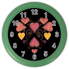 Love Collage Wall Clock (color) by whitemagnolia