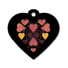 Love Collage Dog Tag Heart (Two Sided)