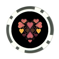 Love Collage Poker Chip by whitemagnolia