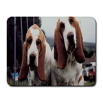 basset hounds two Small Mousepad