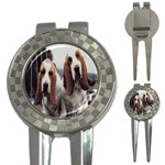 basset hounds two 3-in-1 Golf Divot
