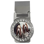 basset hounds two Money Clip (CZ)