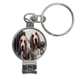 basset hounds two Nail Clippers Key Chain