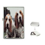 basset hounds two Flip Top Lighter