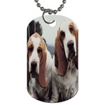 basset hounds two Dog Tag (Two Sides)