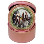 basset hounds two Jewelry Case Clock