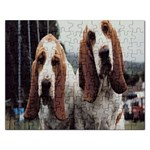 basset hounds two Jigsaw Puzzle (Rectangular)