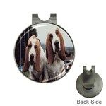 basset hounds two Golf Ball Marker Hat Clip