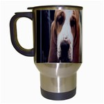 basset hounds two Travel Mug (White)