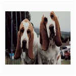 basset hounds two Glasses Cloth