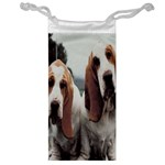 basset hounds two Jewelry Bag