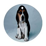 Basset hound puppy Ornament (Round)