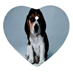 Basset hound puppy Ornament (Heart)