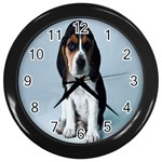 Basset hound puppy Wall Clock (Black)