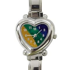 Rainbow Heart Italian Charm Watch  by Willowofthewoods