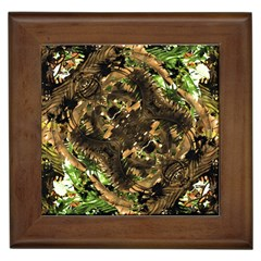 Artificial Tribal Jungle Print Framed Ceramic Tile by dflcprints