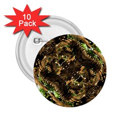 Artificial Tribal Jungle Print 2 25  Button (10 Pack)