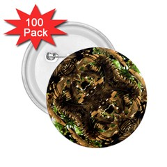 Artificial Tribal Jungle Print 2 25  Button (100 Pack) by dflcprints