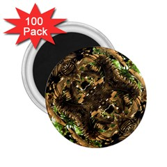 Artificial Tribal Jungle Print 2 25  Button Magnet (100 Pack) by dflcprints