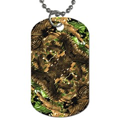 Artificial Tribal Jungle Print Dog Tag (one Sided)