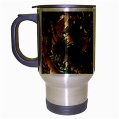Artificial Tribal Jungle Print Travel Mug (silver Gray) by dflcprints