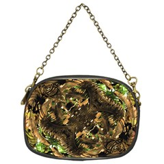 Artificial Tribal Jungle Print Chain Purse (one Side) by dflcprints