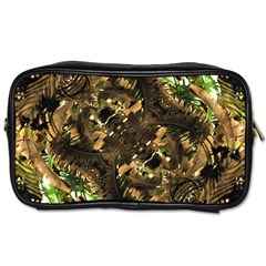 Artificial Tribal Jungle Print Travel Toiletry Bag (two Sides) by dflcprints