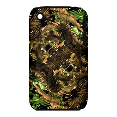Artificial Tribal Jungle Print Apple Iphone 3g/3gs Hardshell Case (pc+silicone) by dflcprints