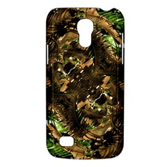 Artificial Tribal Jungle Print Samsung Galaxy S4 Mini (gt I9190) Hardshell Case  by dflcprints