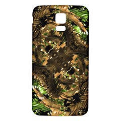 Artificial Tribal Jungle Print Samsung Galaxy S5 Back Case (white)