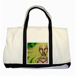 -NP-  Searching Through the Lights Portrait  Two Tone Tote Bag