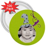 3  button 100 pack - 3  Button (100 pack)