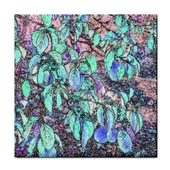 Colored Pencil Tree Leaves Drawing Ceramic Tile by LokisStuffnMore
