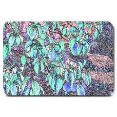 Colored Pencil Tree Leaves Drawing Large Door Mat by LokisStuffnMore