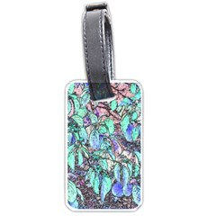 Colored Pencil Tree Leaves Drawing Luggage Tag (one Side) by LokisStuffnMore
