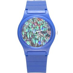 Colored Pencil Tree Leaves Drawing Plastic Sport Watch (small) by LokisStuffnMore