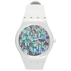 Colored Pencil Tree Leaves Drawing Plastic Sport Watch (medium) by LokisStuffnMore