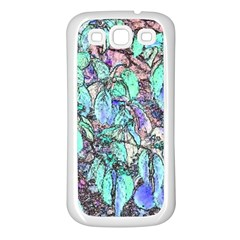 Colored Pencil Tree Leaves Drawing Samsung Galaxy S3 Back Case (white) by LokisStuffnMore