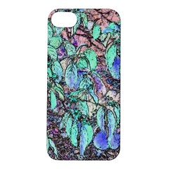 Colored Pencil Tree Leaves Drawing Apple Iphone 5s Hardshell Case by LokisStuffnMore